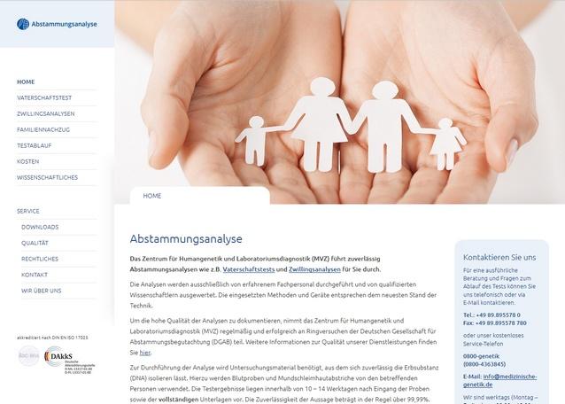 Link Vaterschaftstest Homepage
